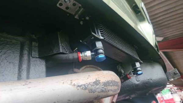 Alfa Romeo Gearbox Oil Cooler fitted to car