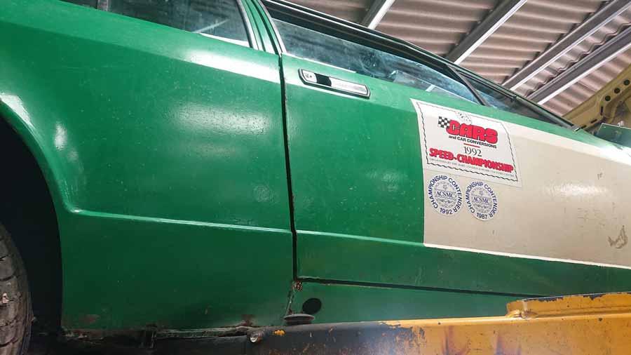Alfetta GTV6 restoration project body work detail